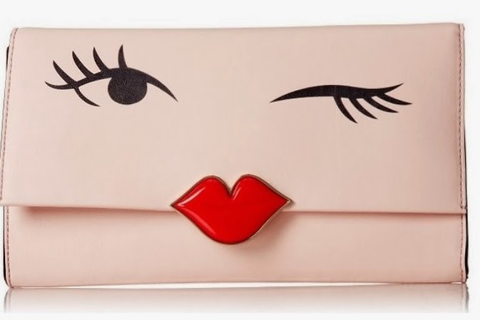 Kate Space New York Love Birds Wink Clutch Purse