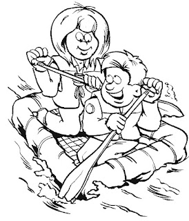Family, People and Jobs Coloring Pages: Scouting Coloring