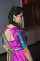 Shilpa Chakravarthy in Purple tight Ethnic Dress ~  Exclusive Celebrities Galleries 003.JPG