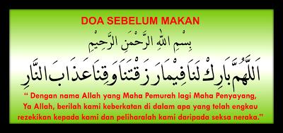 Doa Sebelum Makan Islam Dalam Bahasa Inggris Gambar Islami