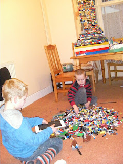 huge pile of lego pieces