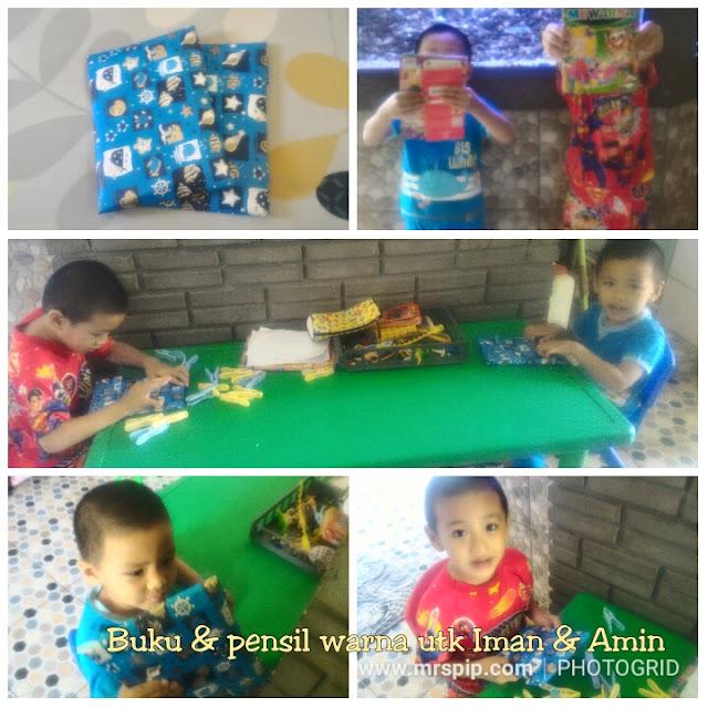 Iman dan Amin : Dapat reward pensel & buku warna cuti minggu ke-2
