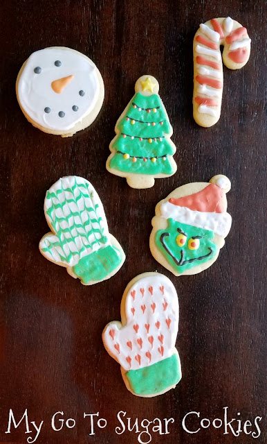 These are my favorite sugar cookies to roll-out, cut and decorate.  The dough is easy to work with, not too stiff and not too hard and they taste delicious!