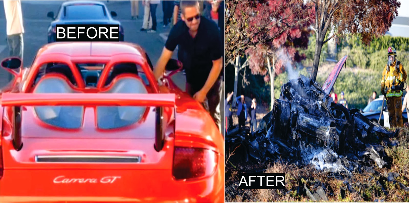the last moments of paul walkers porsche stalling