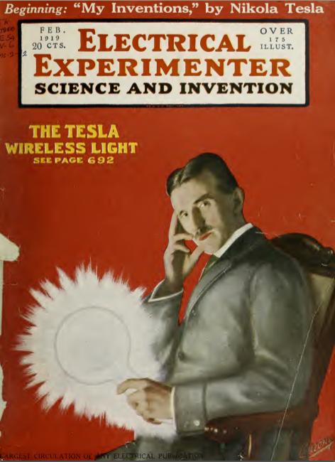 Free Pdf Of Nikola Teslas Autobiography My Inventions An