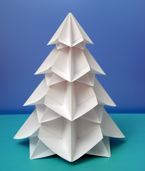 Origami 8 moduli Bialbero di Natale - Double Christmas tree by Francesco Guarnier