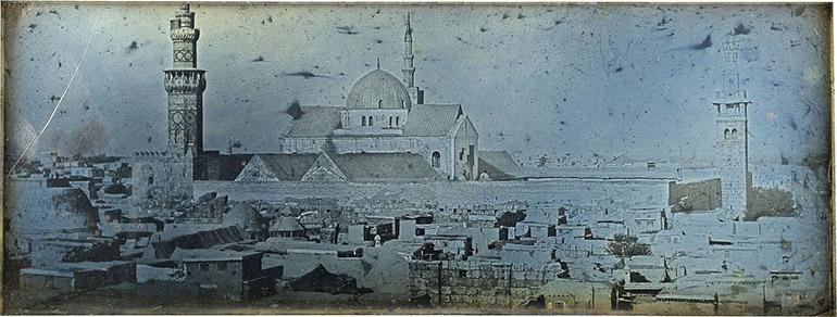 Photographie panoramique de Damas prise par Girault de Prangey en 1843
