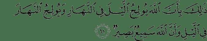 Surat Al Hajj ayat 61