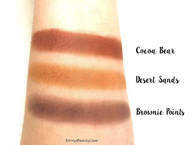 Makeup Geek Cocoa Bear Desert Sands Brownie Points Swatches