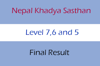 Senior Officer and Other Post Final Result 2075 Nepal Khadya Sasthan