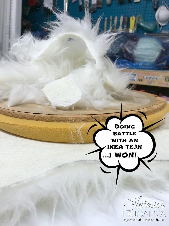 Vanity Stools Faux Fur Rug