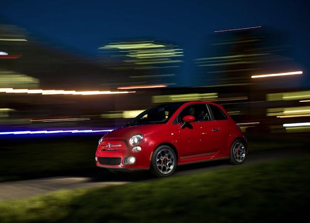 2012 Fiat 500 Sport red