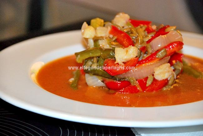 Gazpacho tibio de verduras al horno