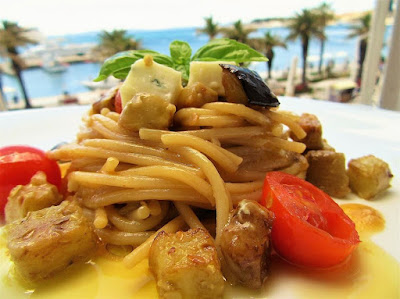 Špageti s patlidžanom / Spaghetti with eggplant