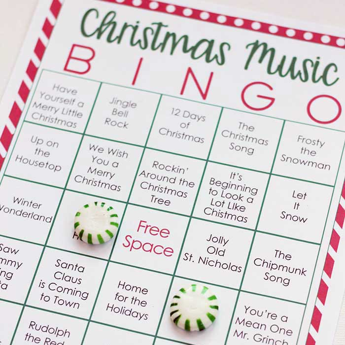 graphic about Printable Christmas Song Games called Printable Xmas Tunes Bingo with 3 Enjoyable Practices in direction of Participate in