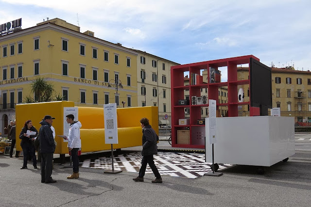 Oversized living room, IKEA advertising, piazza Cavour, Livorno
