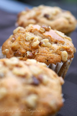 maple walnut pancake muffins