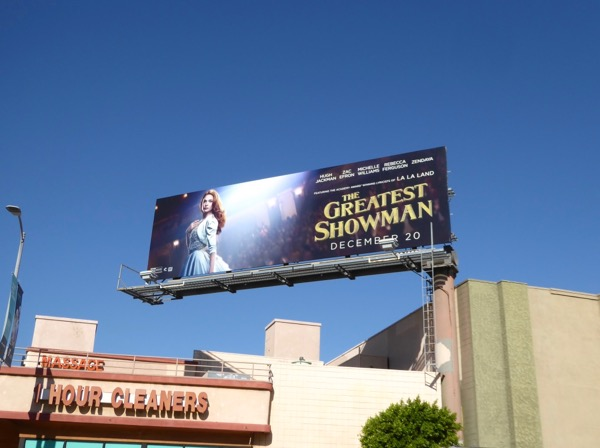 Greatest Showman billboard