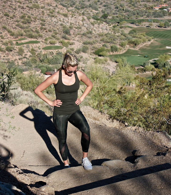 Lululemon Gator Green Cool Racerback, Palm Party Fatigue Inspire Tights