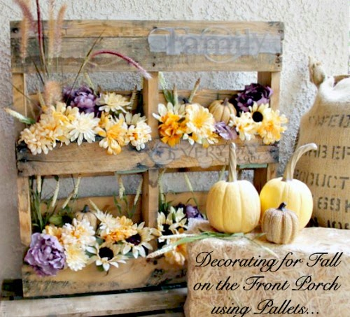 Vintage, Paint and more... One More Time Events Fall Porch Decor