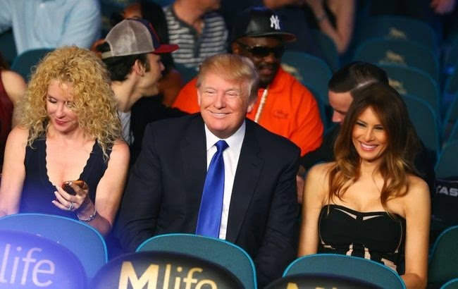 Donald Trump at Mayweather-Pacquiao