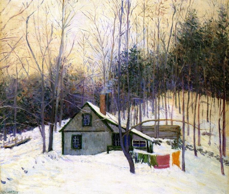 Lilla Cabot Perry, Winter, die Zeit, Montag, Schnee, eintönigkeit, kälte, eis, konturlosigkeit, natur, aderlass, gefühle, gedanken, stille, frühling, erwachen, paintings, malerei, bild, poetische Art
