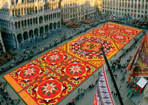 bon bon atelier: Brussels' flower carpet
