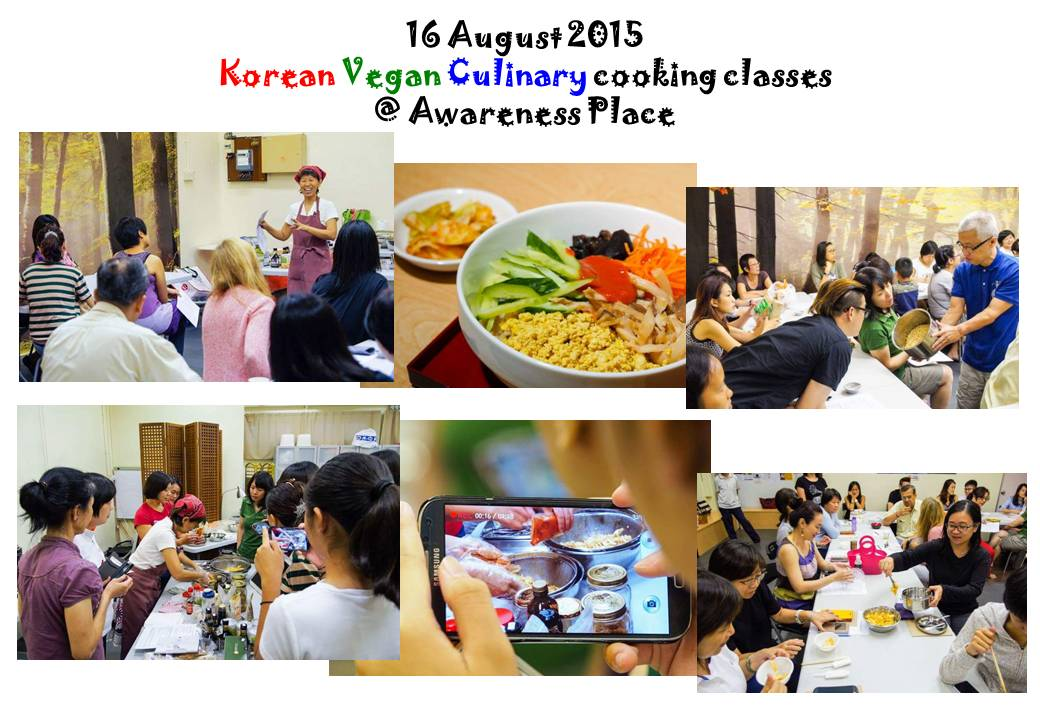 Korean Vegan Cuisine on 16 August 2015 @ Awareness Place