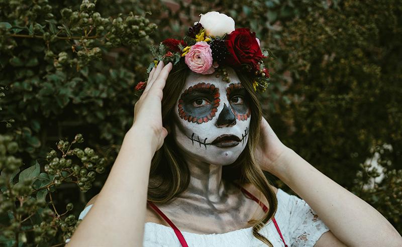 spooky, dead, face paint