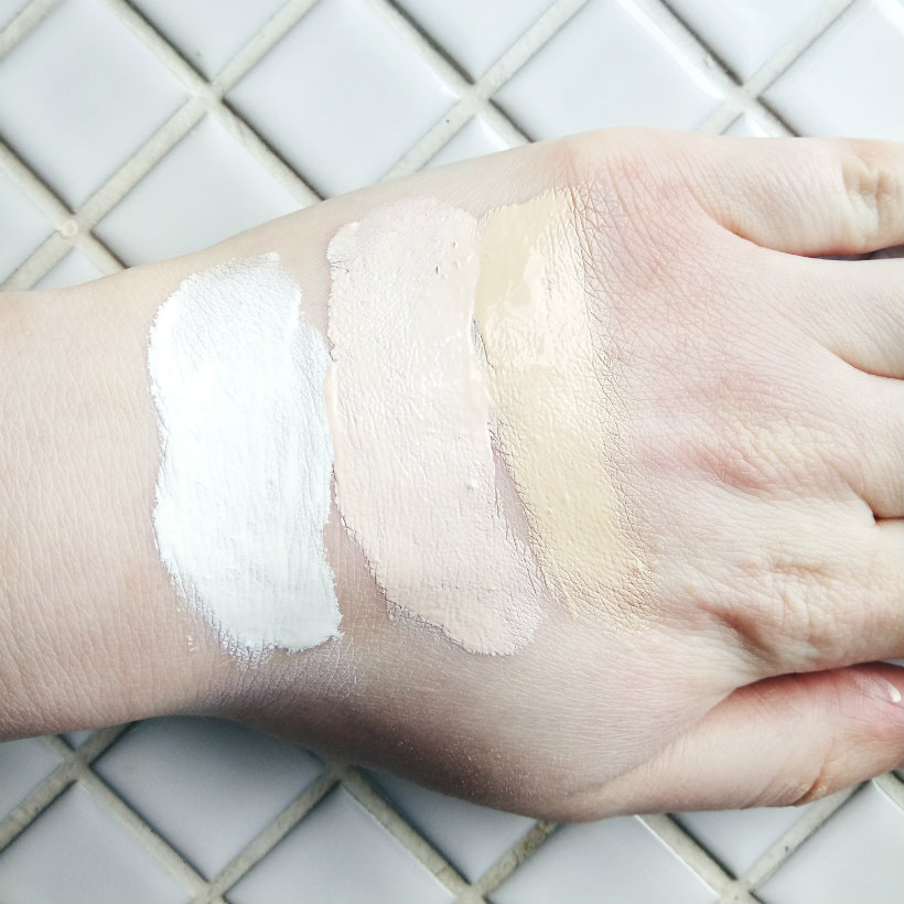 Skin Base Foundation samples (swatches)