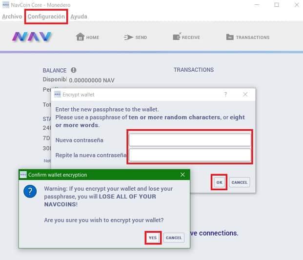 Guardar NAV COIN Wallet Oficial Guía Español