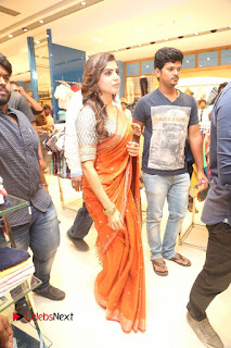Actress Samantha Pictures in Saree at South India Shoping Mall Launch 0233