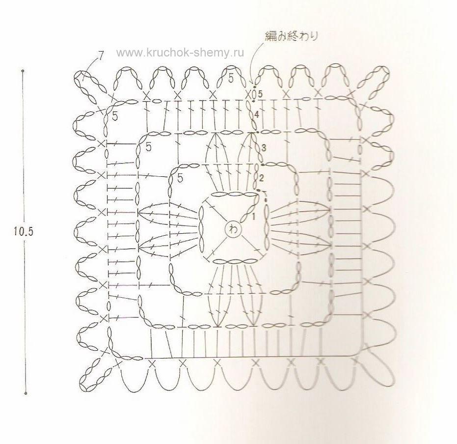 Схема подстаканника крючком