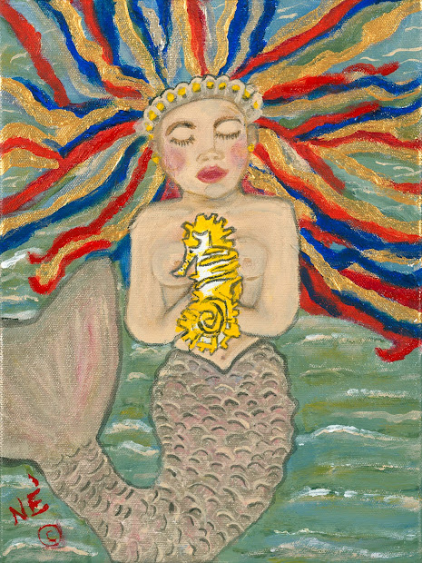 Sailady Art Whimsical Dreadlock Mermaids And Merman