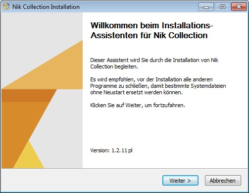 Installer Nik Collection