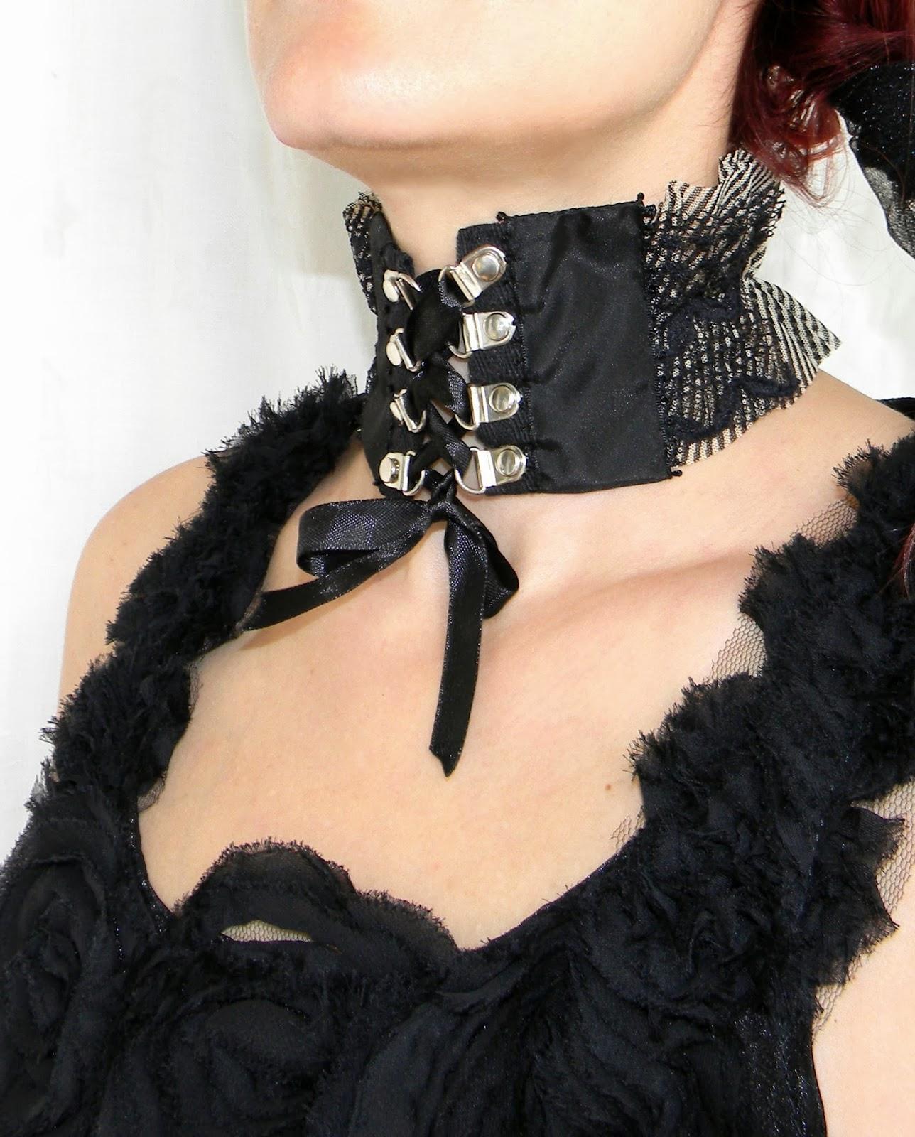 Gothic Burlesque Neck Corset Neckpiece Sexy Fashion Choker