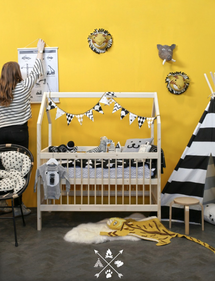 Grey&Yellow in children's rooms