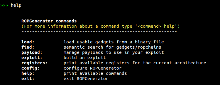 ROPGenerator - Tool That Helps You Building ROP Exploits By Finding