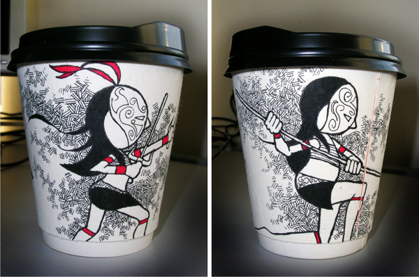 paper cup art