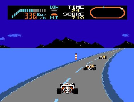 لعبة سباق السيارات أتاري F-1 Race - منصة تجربة