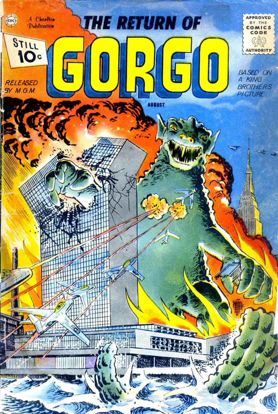 Gorgo v1 #2 charlton monster comic book cover art by Steve Ditko