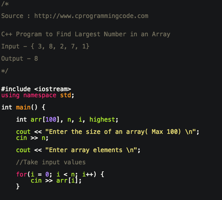 Find 3 largest numbers in an array in c