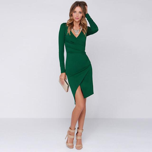 one piece dresses or V-Neck dresses