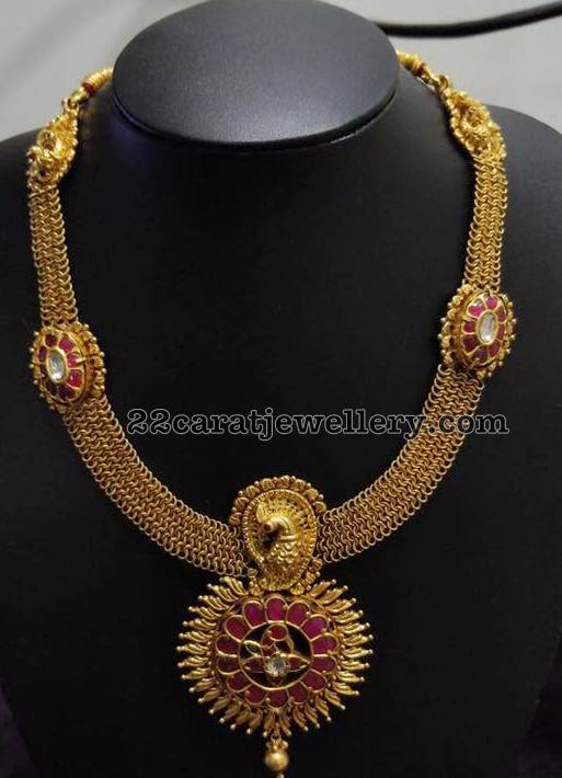 Antique Long Chains with Peacock Motifs