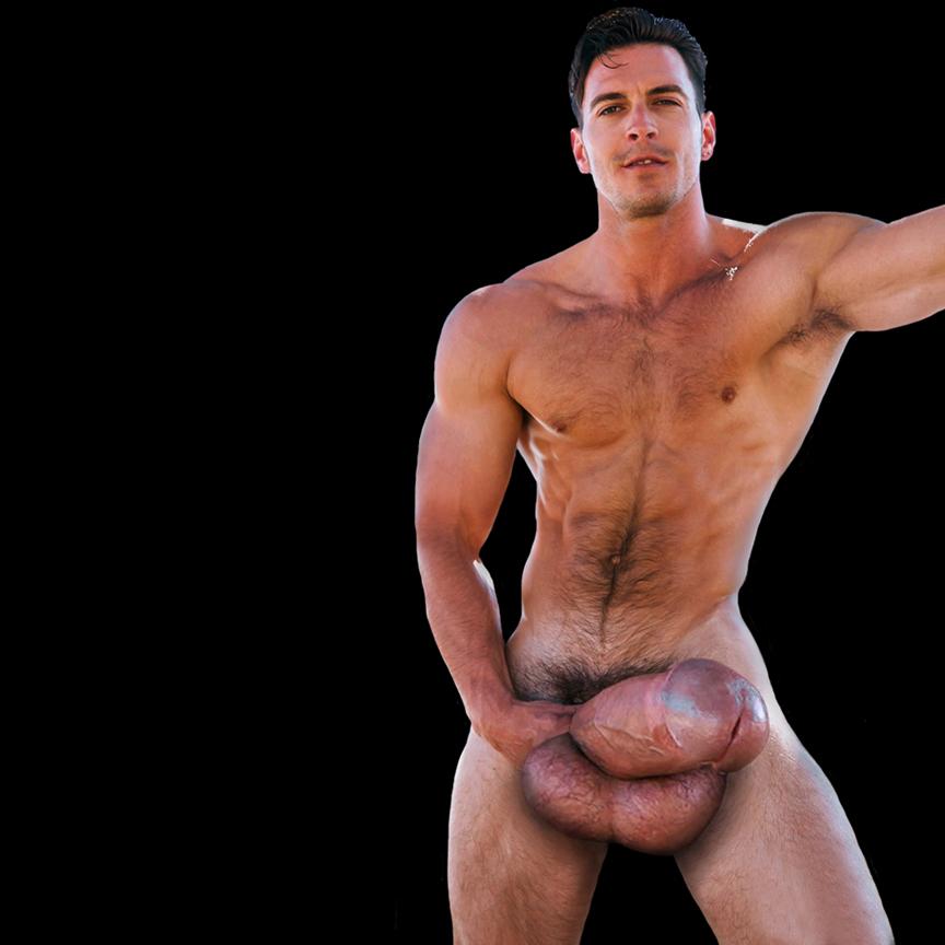 Nude bodybuilder penis size 3