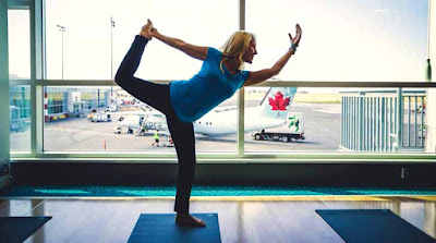 Yoga, Nevada, Hindus, travelers, yoga session, airport, gyms, living-rooms, Hindu statesman, Rajan Zed