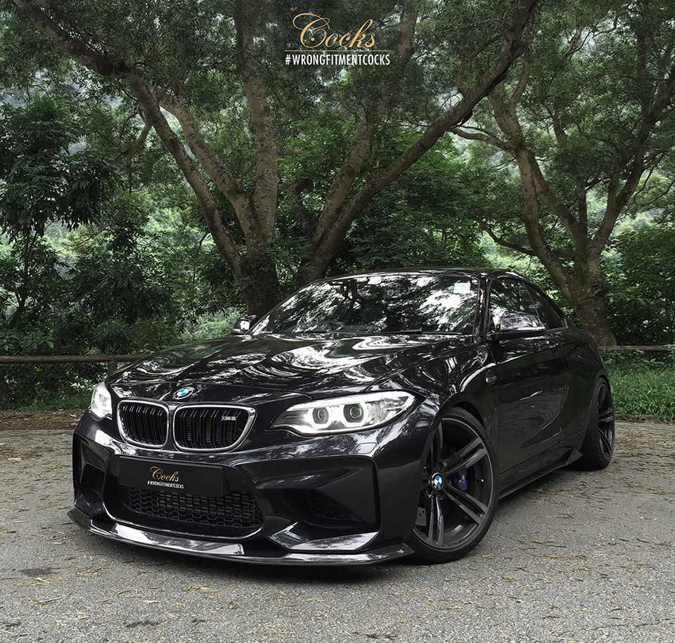 bmw m2 with mtc design carbon fibre kit looks spot on. Black Bedroom Furniture Sets. Home Design Ideas