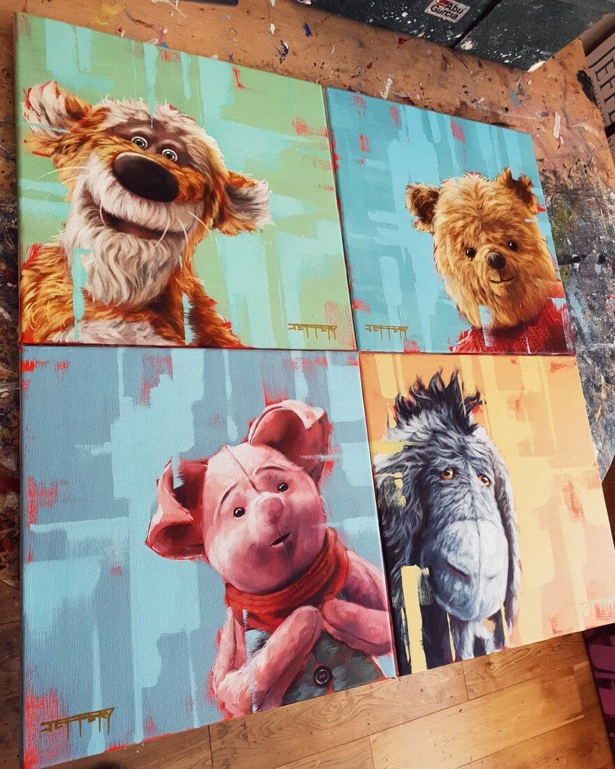 12-Winnie-the-Pooh-Ben-Jeffery-Superhero-and-Villain-Movie-Paintings-www-designstack-co