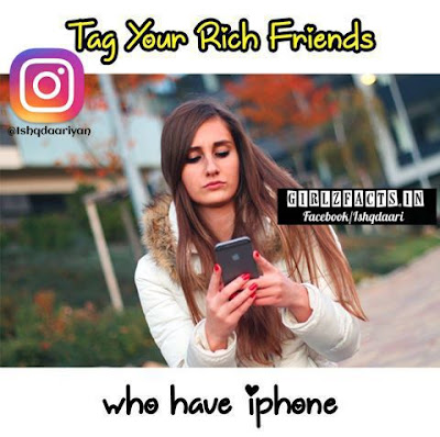 Tag your Rich Friends Who have iphone