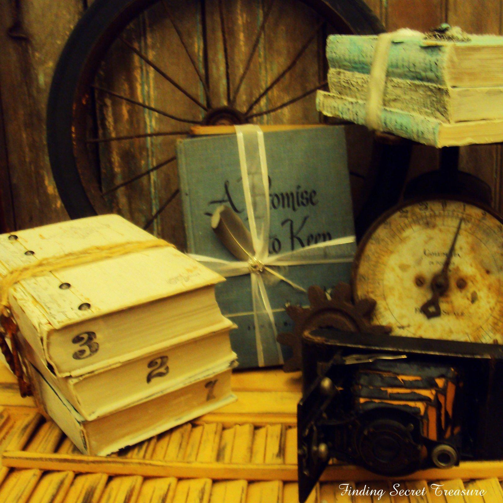 Finding Secret Treasure: Decorating Vintage Books